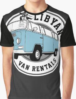 Back to the Future 'Libyan Van Rentals' Logo Graphic T-Shirt