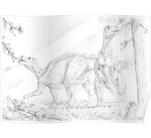 Iguanodon Bernissartensis Poster