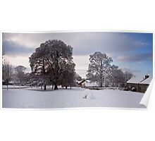 Snow on the Village Green Poster