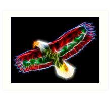 Medicine Wheel Totem Animals by Liane Pinel- Thunderbird Art Print