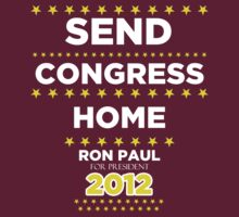 Send Congress Home - Ron Paul for President 2012 by BNAC - The Artists Collective.