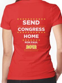 Send Congress Home - Ron Paul for President 2012 Women's Fitted V-Neck T-Shirt