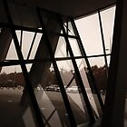 Slanted Glass. Mercedes museum, Stuttgart. by Mbland