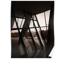 Slanted Glass. Mercedes museum, Stuttgart. Poster