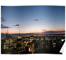 Manhattan Sunset, View from Top of the Rock Observation Deck,New York Poster