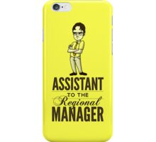 Assistant TO THE Regional Manager (Variant) iPhone Case/Skin