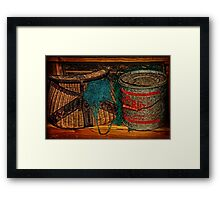 Shelved Framed Print