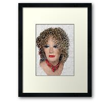 Lady in a Red Scarf Framed Print
