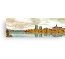 Saskatoon Skyline Sketch Canvas Print