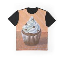 Chocolate Stars Cupcake Graphic T-Shirt