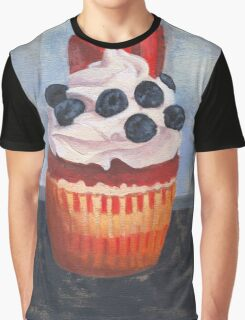 Mad Blueberries Cupcake Graphic T-Shirt