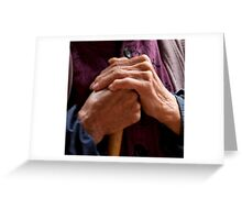 Hands Of A Long Life Greeting Card