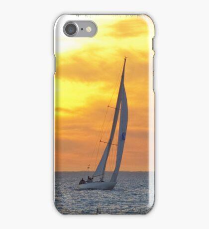 Sailing at sunset iPhone Case/Skin