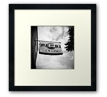 Pepsi - Joe's Lunch Framed Print