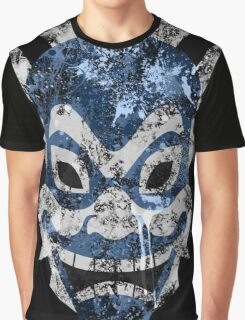 Blue Spirit Splatter Graphic T-Shirt