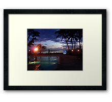 Fijian Dusk Framed Print