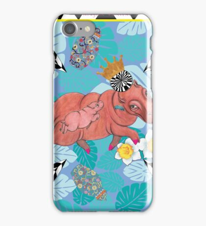 Royal Hippos by Ro London - Menagerie Collection iPhone Case/Skin