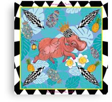 Royal Hippos by Ro London - Menagerie Collection Canvas Print