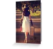 A Walk in the Pecan Trees Greeting Card