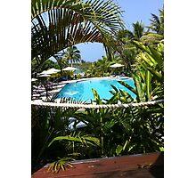 Fijian Poolside Photographic Print