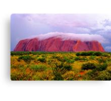 Mighty Uluru Under Storm Cloud Canvas Print