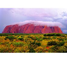 Mighty Uluru Under Storm Cloud Photographic Print