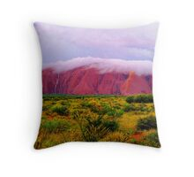 Mighty Uluru Under Storm Cloud Throw Pillow