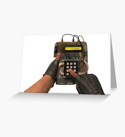 CSGO bomb Plant Greeting Card