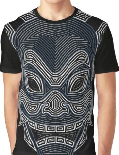 Ornate Blue Spirit Mask Graphic T-Shirt