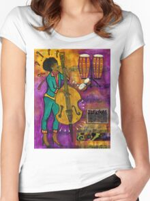 That Sistah on the Bass T-Shirt Women's Fitted Scoop T-Shirt