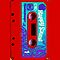 Red Retro Audio Cassette Tape by HighDesign