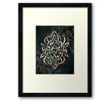Celtic Knotwork -  Bracer Knot Framed Print