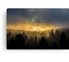 Streaming Beams from the Heavens Canvas Print