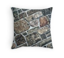 Rock Wall Texture Throw Pillow