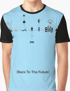 Back To The Future Pictogram Story  Graphic T-Shirt
