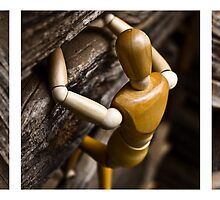 Wooden Man Climbing Bran Group Set by cadman101
