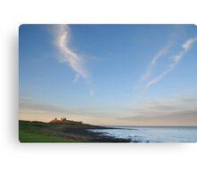 Towards Dunstanburgh castle at dusk Canvas Print