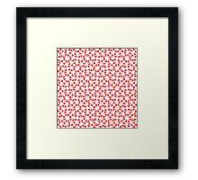Red heart design Framed Print
