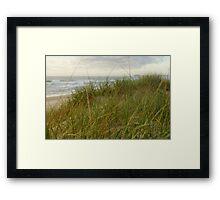 Across the dunes to Cabarita Headland Framed Print
