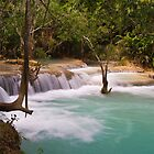 Kuang Falls, Laos by Ian Fegent
