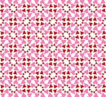 Red and pink heart design by Ederella