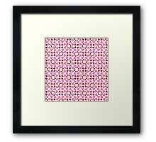 Red and pink heart design Framed Print