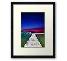 Colour Filled Sunrise Framed Print