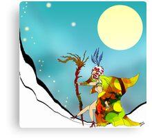 Snow Climb Canvas Print