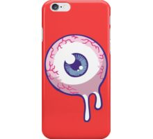 eye see you - red background iPhone Case/Skin