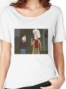 """BttF - Weds, October 21, 2015 ...""""*Size Adjusting - Fit*"""" Women's Relaxed Fit T-Shirt"""