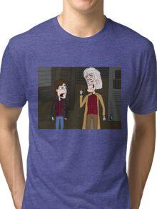 """BttF - Weds, October 21, 2015 ...""""*Size Adjusting - Fit*"""" Tri-blend T-Shirt"""