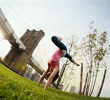 Sianna Sherman on Handstand, New York by Wari Om  Yoga Photography
