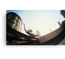 Addam Ringer, Yoga on a roftop in New York Canvas Print