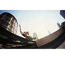 Addam Ringer, Yoga on a roftop in New York Photographic Print